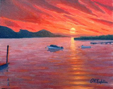 eagleton sunset